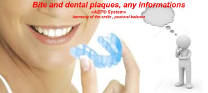 bite and dental plaques